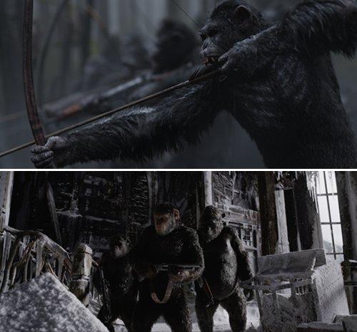 《猩球崛起3》曝新预告 凯撒为猿族开启反击之旅