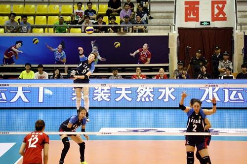 女排全运预赛-王一梅36分耀眼沪京提前2轮直通