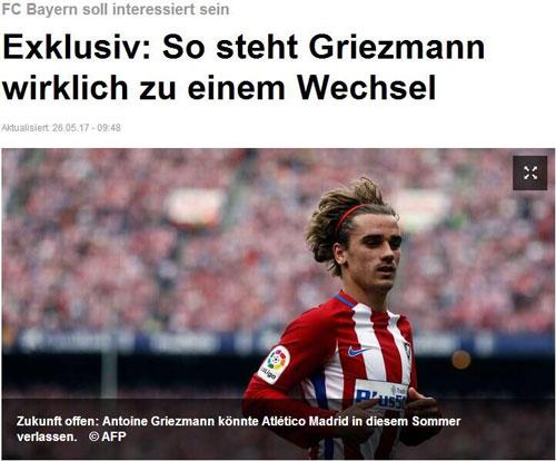 乱!拜仁加入格列兹曼争夺战无缘桑切斯将签他