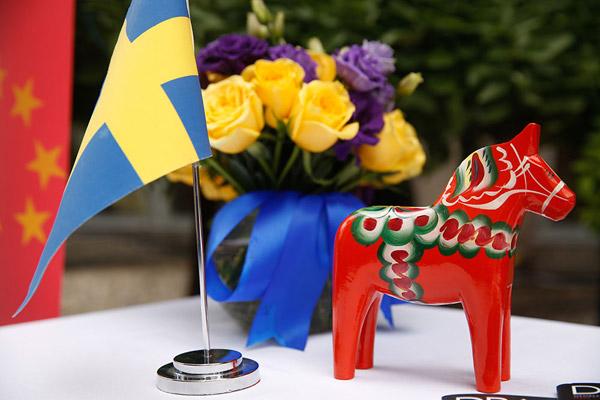 庆典活动现场浓郁的瑞典风情