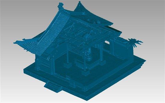 大雄宝殿3D模型效果图