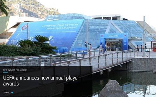 欧足联宣布新增球员奖项 托蒂将获欧足联主席奖