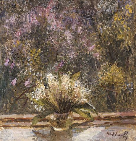 雅勃隆斯卡婭《花園》57x54.5cm 油彩畫布 1991