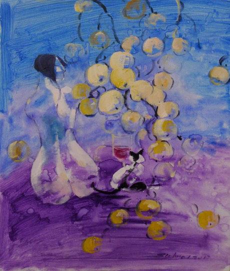 李素华《苹果树下之梦境系列》NO.33布面油画50x60cm 2017