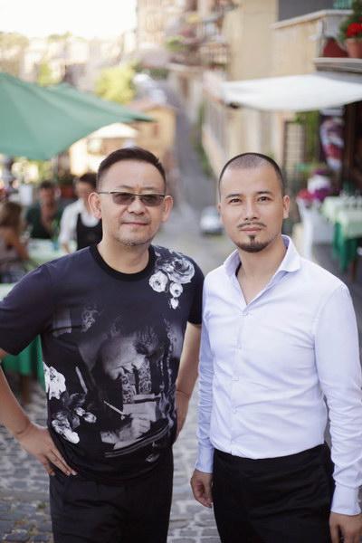姜武与诚利千代娱乐集团董事长梁宗豪先生