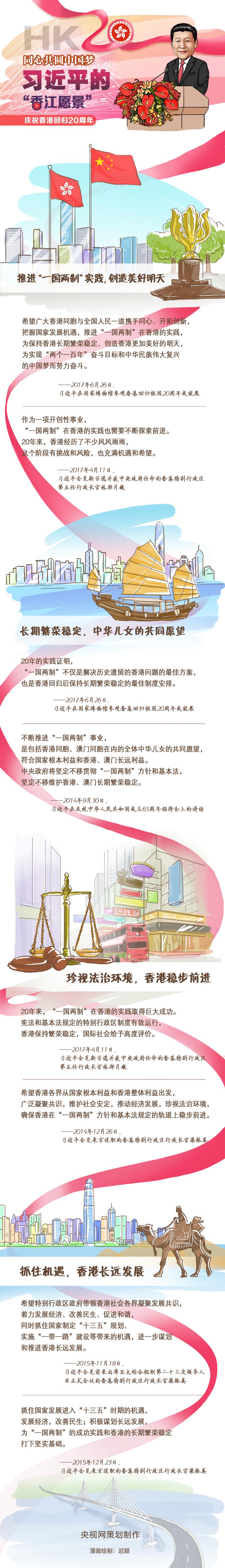 """条漫丨同心共圆中国梦——习近平的""""香江愿景"""""""
