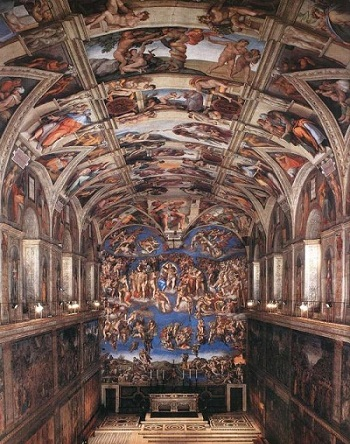西斯廷教堂内部远景