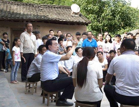 定格李克强总理陕西考察的五个瞬间