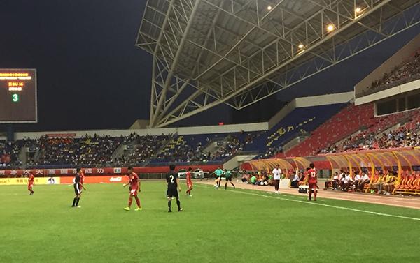 国少队上半场就以3:0大比分落后对手。