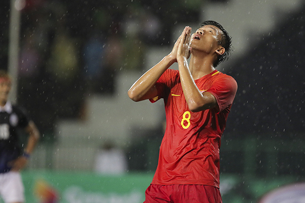 中国队0比0柬埔寨。 视觉中国 图