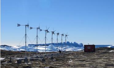 南极中山科考站风力发电离网供电系统