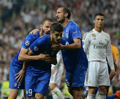 2015年5月13日,欧冠半决赛次回合,皇家马德里1-1尤文图斯, 莫拉塔拒绝庆祝。东方IC 资料