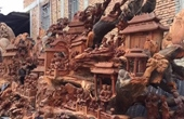 千年古树雕刻展示大观园