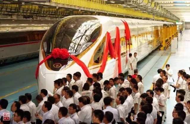 """中国标准动车组""""复兴号""""命名仪式在北京举行(2017年6月25日摄)。新华社记者 邢广利 摄"""