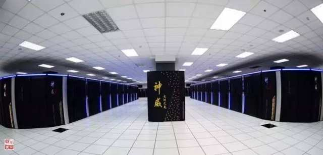 """安装在国家超级计算无锡中心的""""神威太湖之光""""超级计算机(2016年6月20日摄)。新华社记者 李响 摄"""