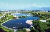 航拍滹沱河湿地公园 美!