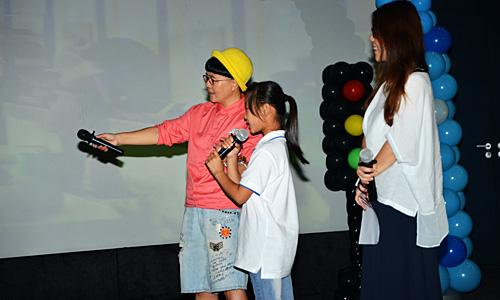 金龟子现场与小朋友及媒体老师共同进行动画片配音