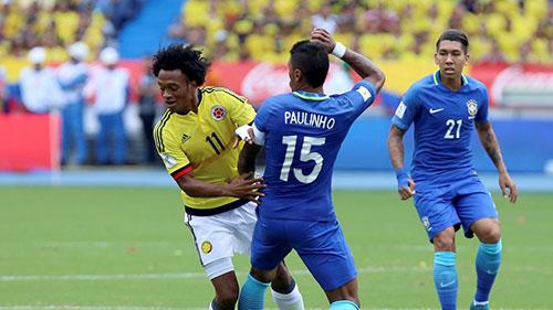 世预赛-内马尔助攻法尔考救主 巴西1-1哥伦比亚
