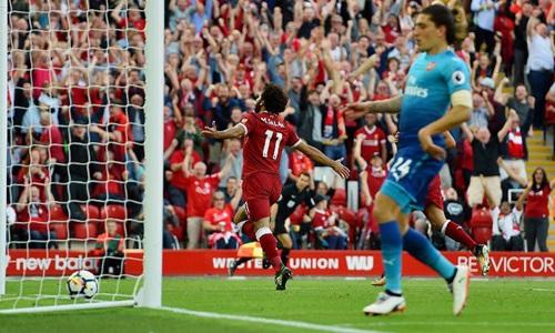 萨拉赫力压马内获利物浦8月最佳 5战3球1助1点
