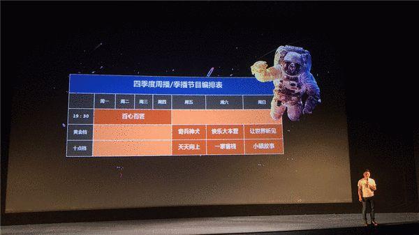 湖南卫视四季度最新编排表