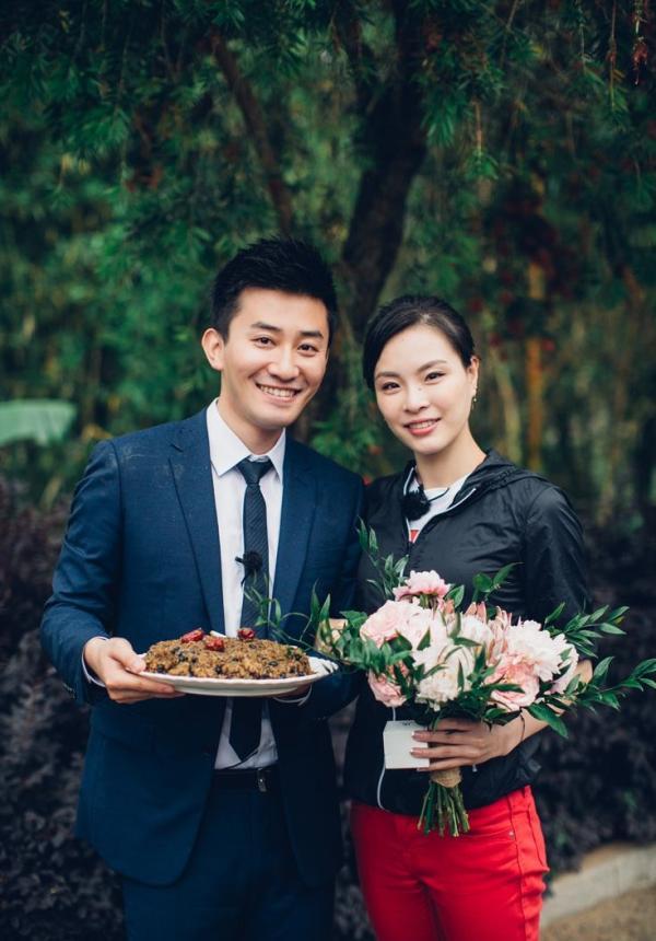 吴敏霞和丈夫张效诚。图片来源:网络
