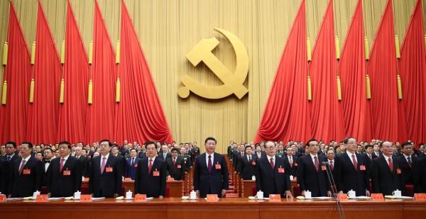 10月18日,中国共产党第十九次全国代表大会在北京人民大会堂开幕。这是习近平、李克强、张德江、俞正声、刘云山、王岐山、张高丽、江泽民、胡锦涛在主席台上。新华社 图