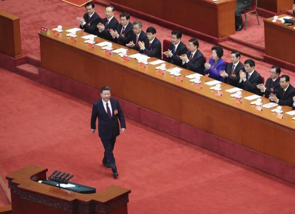 10月18日,中国共产党第十九次全国代表大会在北京人民大会堂开幕。习近平代表第十八届中央委员会向大会作报告。新华社 图