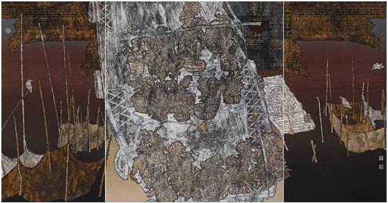《船家有花暗自香》 2013年 97cm×185cm