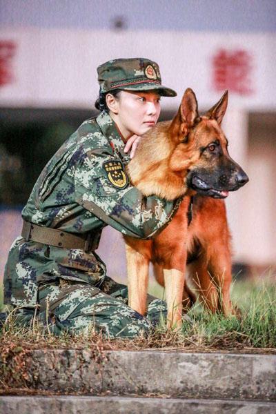 张馨予动情谈《奇兵神犬》 落水被警犬伙伴救起