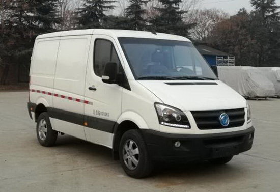 陕西亚曼汽车生产的纯电动厢式运输车图片
