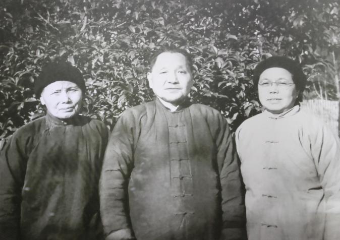 初到江西时的邓小平、卓琳、夏伯根