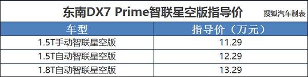 东南DX7智联星空版上市 售11.29-13.29万元