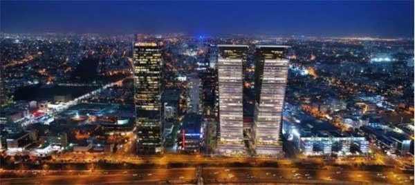 左:谷歌以色列总部大楼,特拉维夫地标。右:DayDayUp以色列加速器