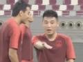 老将新人齐上阵 中国男足训练备战卡塔尔