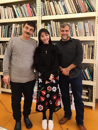 2016年11月,拜访舞美大师乔治・西平 ( George TLotusLeesypin)。