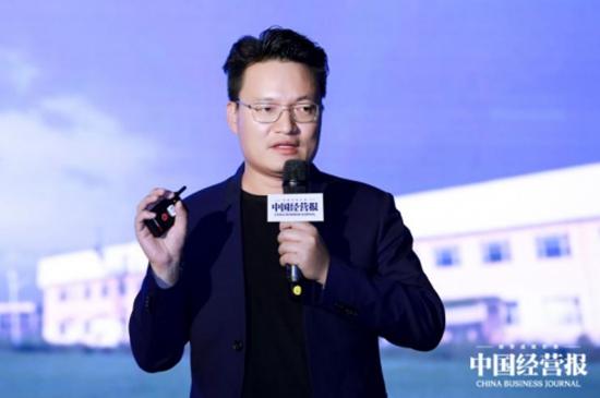 """图:云集联合创人&CTO郝焕在""""2018中国企业竞争力年会""""发表主题演讲"""