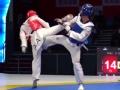 全国跆拳道锦标赛 最重级别87KG以上级田间夺冠
