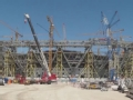 卡塔尔世界杯主体育场主体钢架架构完成