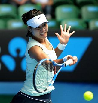 组图:李娜击败世界第一 晋级澳网决赛-李娜 昨晚老公打呼噜我没睡好