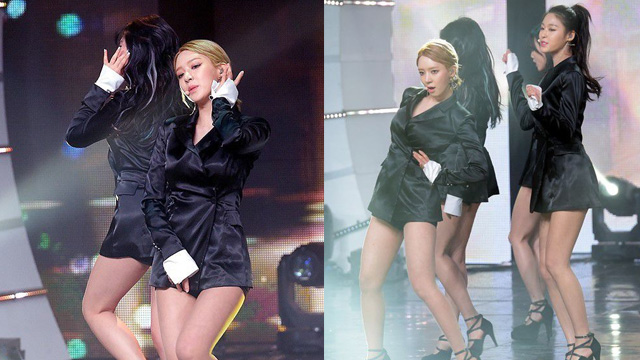 韩女团AOA下衣失踪 双手放腿间动作诱惑