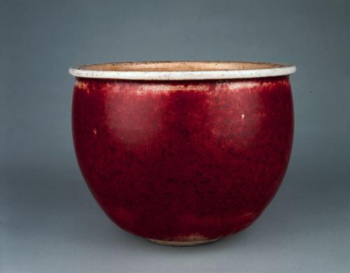 清康熙  郎窑红釉小缸