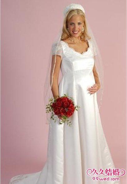 大肚新娘孕妇礼服 挺着大肚也要美