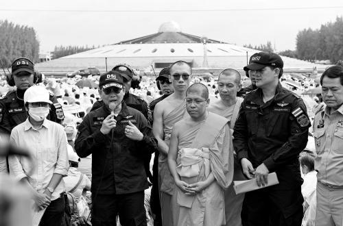 泰国警方与法身寺代表召开记者会