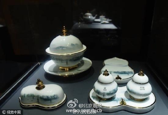 G20杭州峰会国宴用瓷每套定价8.8万 每套88件(组图)